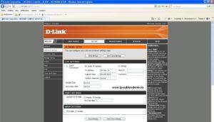 Сетевые настройки d-link