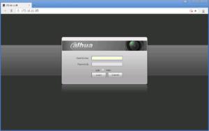 Dahua ввод логина и пароля