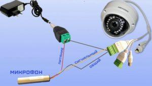 Схема подключения внешнего микрофона