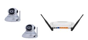 wi-fi камера и роутер